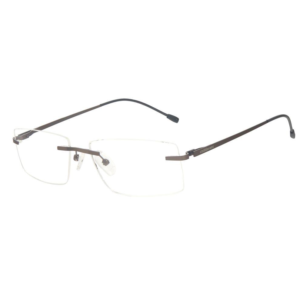 Armação Para Óculos de Grau Masculino Chilli Beans Titânio 3 Peças Bege LV.MT.0481-2323