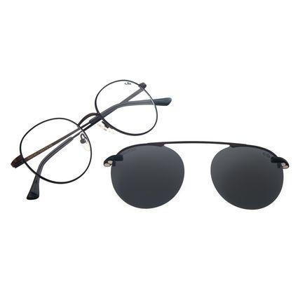 Armação Para Óculos de Grau Masculino Chilli Beans Multi Redondo Marrom Polarizado Fosco  LV.MU.0447-0102