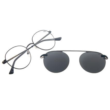 Armação Para Óculos de Grau Masculino Chilli Beans Multi Redondo Marrom Polarizado Ônix LV.MU.0447-0122