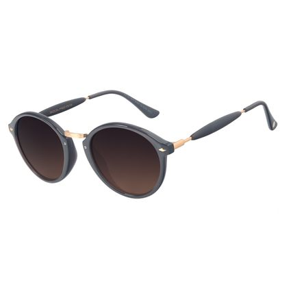 Óculos de Sol Unissex Chilli Beans Essential Retrô Degradê Marrom OC.CL.1677-5701