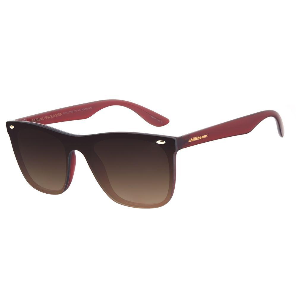 Óculos de Sol Masculino Chilli Beans Bossa Nova Classic Vinho OC.CL.3190-5717