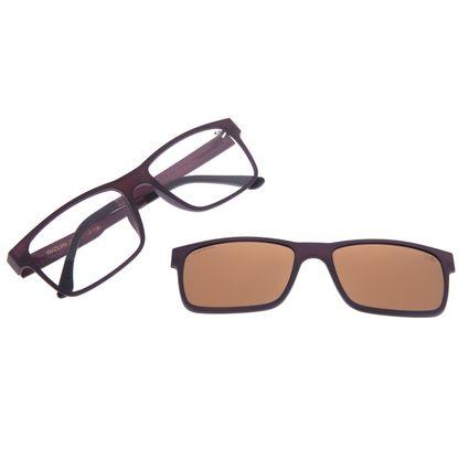 Armação Para Óculos De Grau Masculino Chilli Beans Multi Polarizado Marrom Escuro Fosco LV.MU.0137-0247