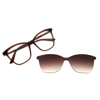 Armação Para Óculos De Grau Feminino Chilli Beans Multi Cat Degradê Marrom LV.MU.0353-5702