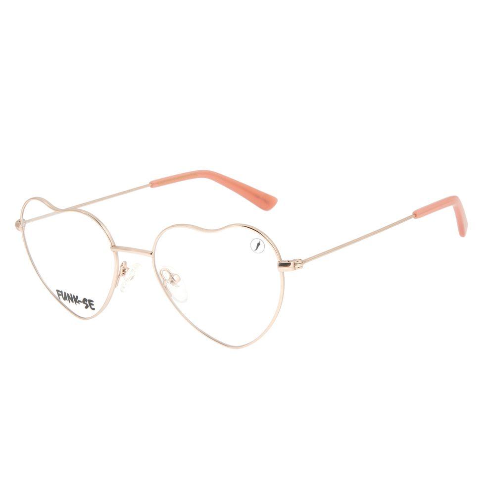 Armação para Óculos de Grau Feminino Teen Funk-se Ludmilla Melody Rosé LV.MT.0480-9595