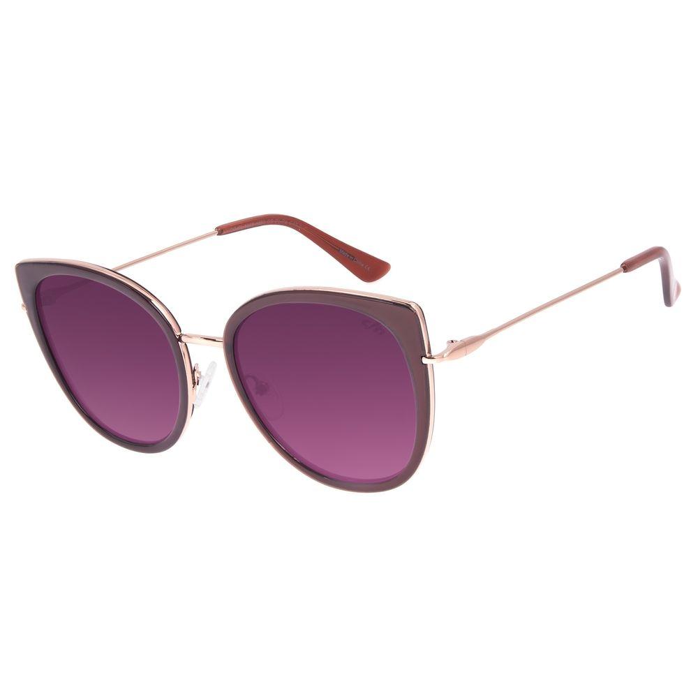Óculos de Sol Feminino Chilli Beans Redondo Bege OC.CL.3095-1823