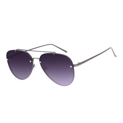 Óculos de Sol Unissex Chilli Beans Aviador Ônix OC.MT.3023-0122