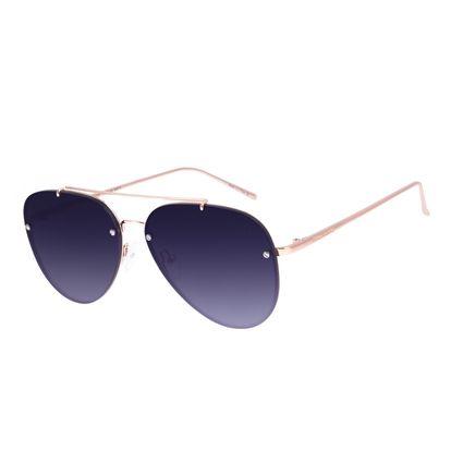 Óculos de Sol Unissex Chilli Beans Aviador Rose OC.MT.3023-2095