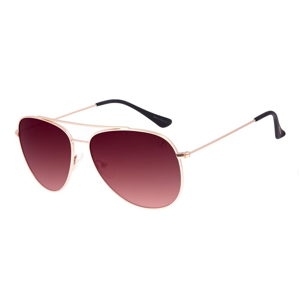Óculos de Sol Unissex Chilli Beans Metal Aviador Dourado OC.MT.3020-5721