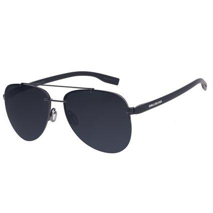 Óculos de Sol Unissex Chilli Beans Aviador Casual Metal Preto OC.MT.3019-0101