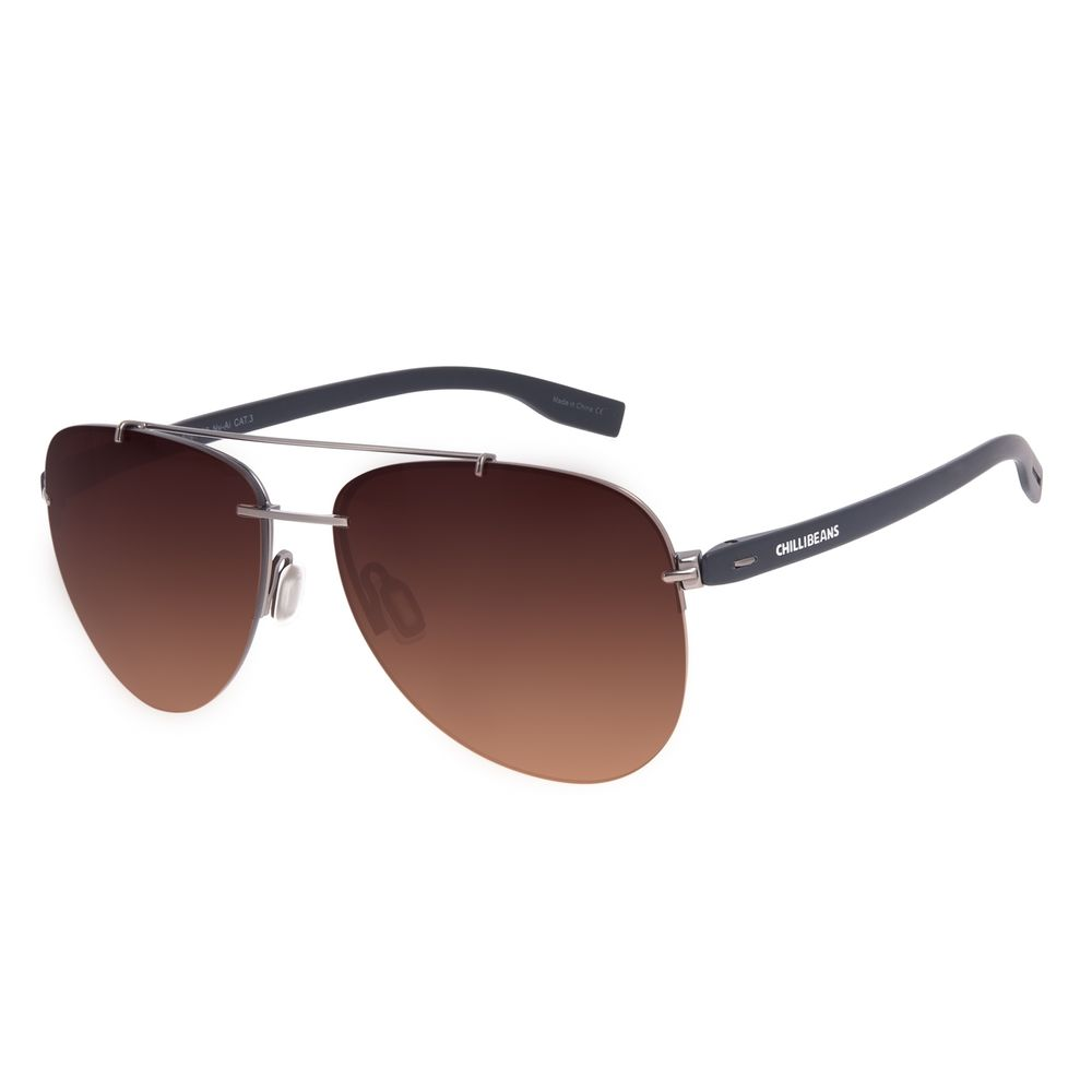 Óculos de Sol Unissex Chilli Beans Aviador Casual Metal Degradê Marrom OC.MT.3019-5701
