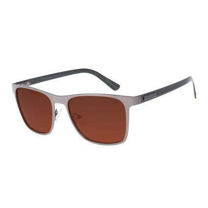 Óculos de Sol Masculino Chilli Beans Quadrado Metal Casual Degradê Marrom OC.MT.2968-5722