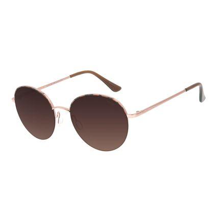Óculos de Sol Feminino Chilli Beans Redondo Metal Casual Rosé OC.MT.2907-5795
