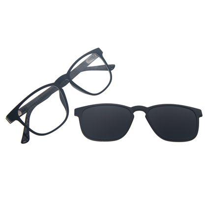 Armação Para Óculos de Grau Masculino Chilli Beans Quadrado Multi Polarizado Preto LV.MU.0513-0101
