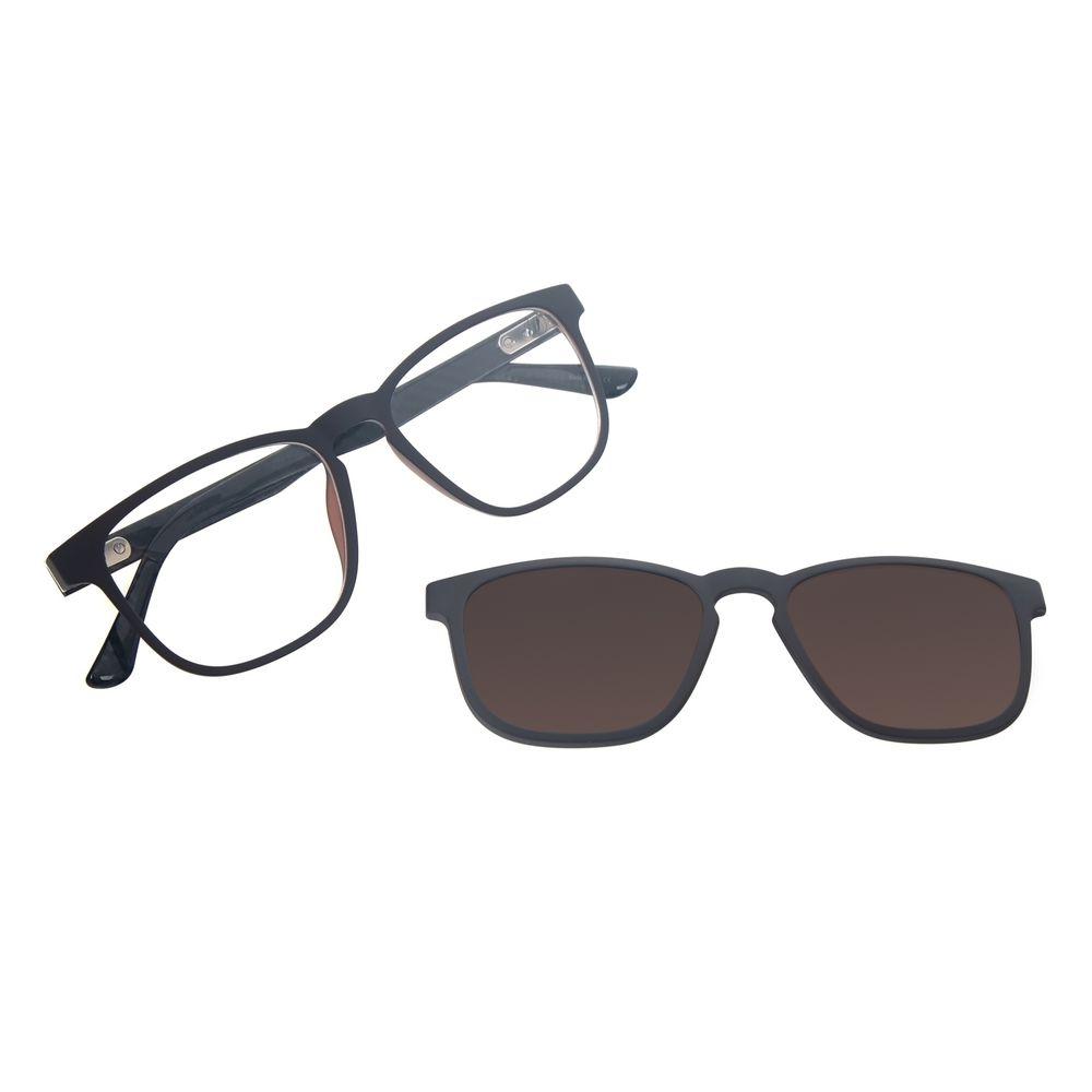 Armação Para Óculos de Grau Masculino Chilli Beans Quadrado Multi Polarizado Marrom LV.MU.0513-0202