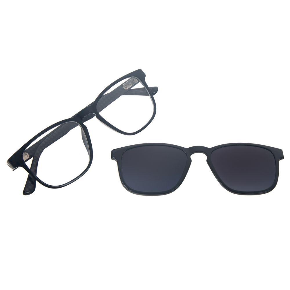 Armação Para Óculos de Grau Masculino Chilli Beans Quadrado Multi Polarizado Degradê LV.MU.0513-2036
