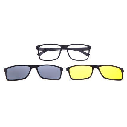 Armação Para Óculos de Grau Unissex Chilli Beans Multi 3 em 1 Preto LV.MU.0514-0001