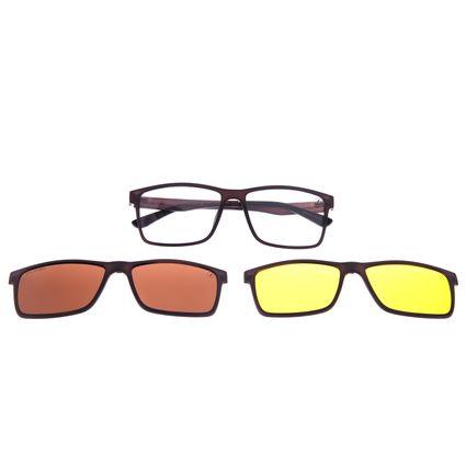 Armação Para Óculos de Grau Unissex Chilli Beans Multi 3 em 1 Marrom LV.MU.0514-0202