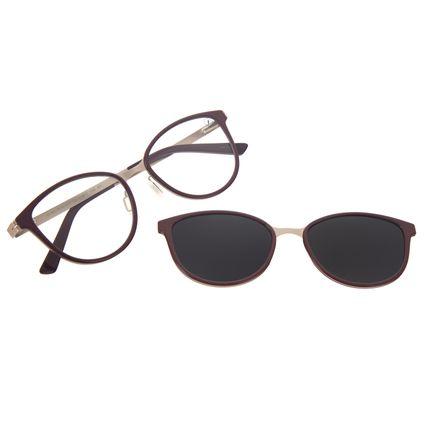 Armação Para Óculos de Grau Feminino Chilli Beans Multi Polarizado Vinho LV.MU.0515-5717