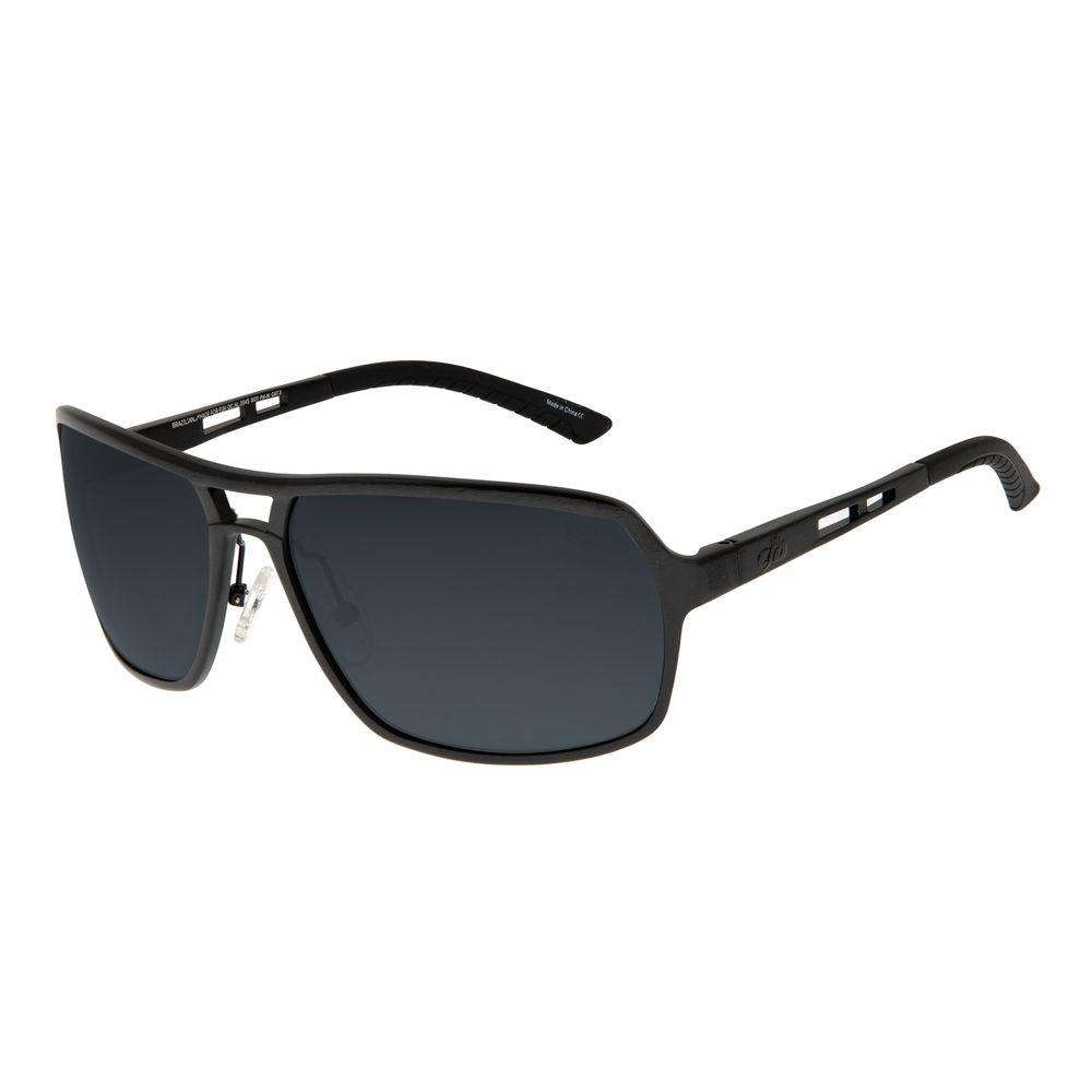 Óculos de Sol Masculino Chilli Beans Essential Executivo Polarizado Cinza Escuro OC.AL.0045-0031