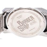 Relógio Analógico Masculino Barber Shop Metal Prata RE.MT.1088-0707.7