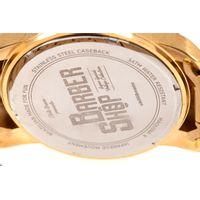 Relógio Analógico Masculino Barber Shop Metal Dourado RE.MT.1088-2121.6