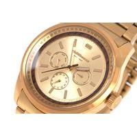 Relógio Analógico Masculino Barber Shop Redondo Dourado RE.MT.1087-2121.5
