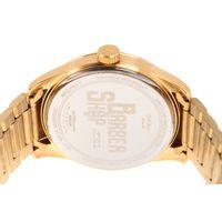 Relógio Analógico Masculino Barber Shop Redondo Dourado RE.MT.1087-2121.7