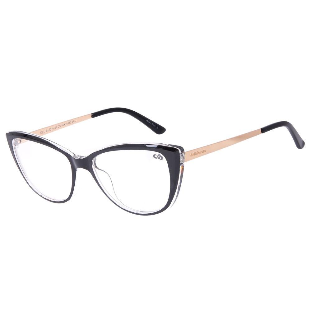 Armação Para Óculos de Grau Feminino Chilli Beans Gatinho Dourado LV.IJ.0173-0121