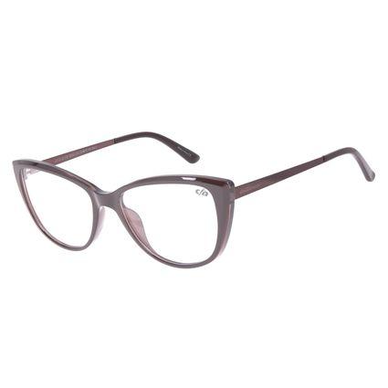 Armação Para Óculos de Grau Feminino Chilli Beans Gatinho Marrom LV.IJ.0173-0202