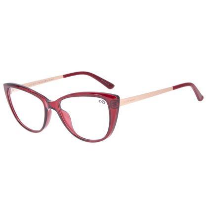 Armação Para Óculos de Grau Feminino Chilli Beans Gatinho Vinho LV.IJ.0173-1795
