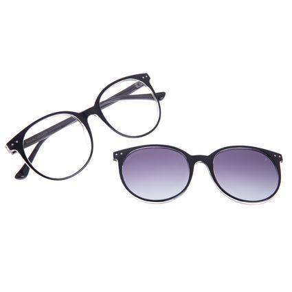 Armação para Óculos de Grau Feminino Chilli Beans Multi Redondo Polarizado Preto LV.MU.0493-2001