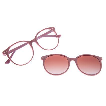 Armação para Óculos de Grau Feminino Chilli Beans Multi Redondo Polarizado Rosé LV.MU.0493-5795
