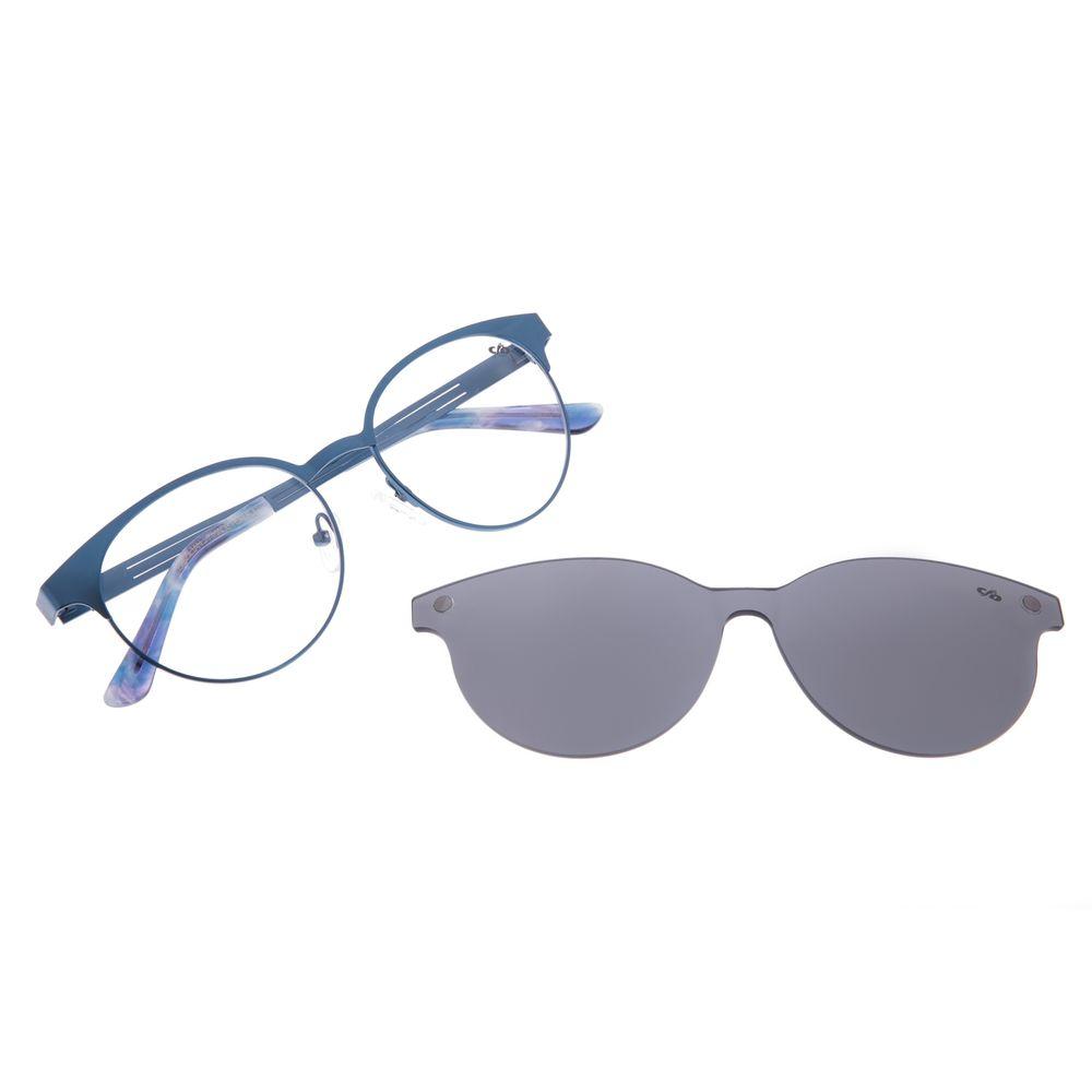 Armação Para Óculos de Grau Feminino Chilli Beans Multi Metal Azul LV.MU.0198-0108