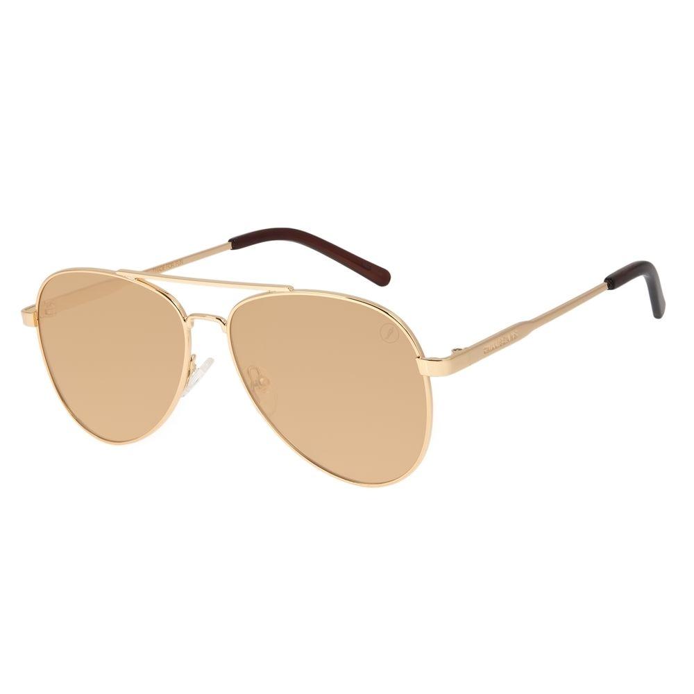 Óculos de Sol Unissex Color Match Classic Design Dourado OC.MT.3033-0221