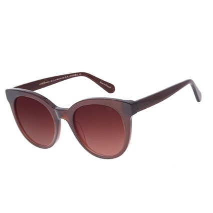 Óculos de Sol Feminino Chilli Beans Redondo Marrom OC.CL.3199-5702