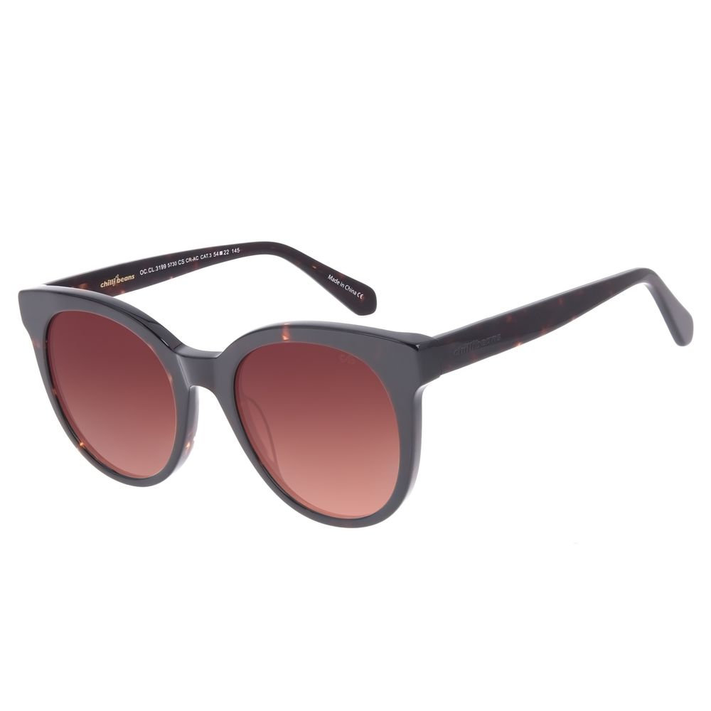 Óculos de Sol Feminino Chilli Beans Redondo Degradê Marrom OC.CL.3199-5730