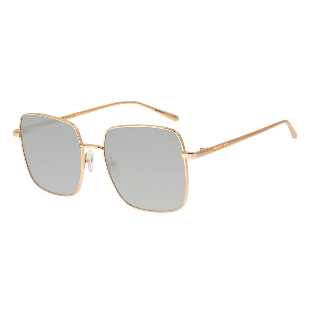 Óculos de Sol Feminino Color Match Banhado a Ouro Dourado OC.MT.3032-0121