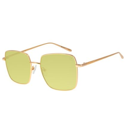 Óculos de Sol Feminino Color Match Banhado a Ouro Verde OC.MT.3032-1521