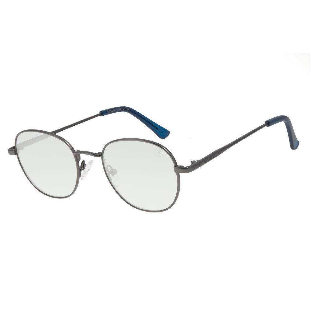 Óculos de Sol Unissex Color Match Classic Design Redondo Ônix OC.MT.3030-0222