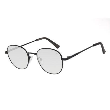 Óculos de Sol Unissex Color Match Classic Design Redondo Preto OC.MT.3030-0101