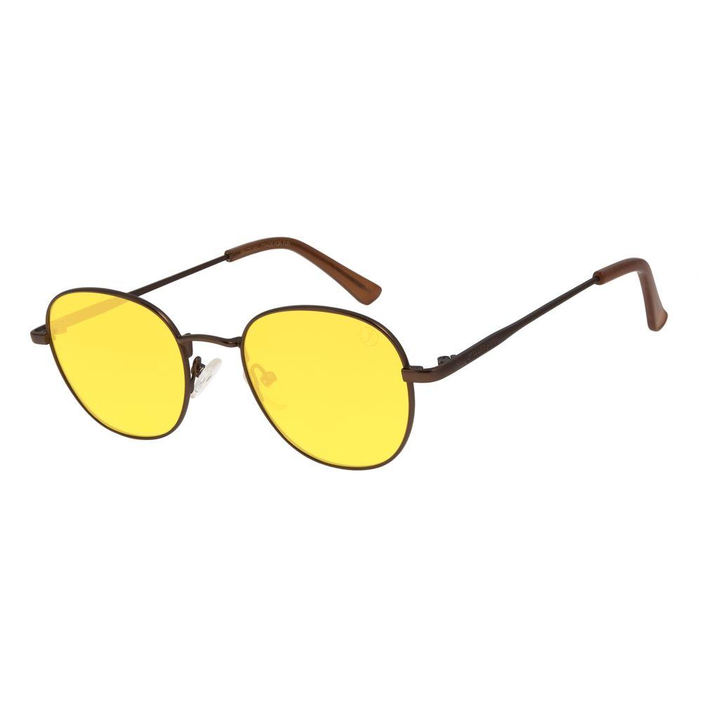 Óculos de Sol Unissex Color Match Classic Design Redondo Amarela OC.MT.3030-0921
