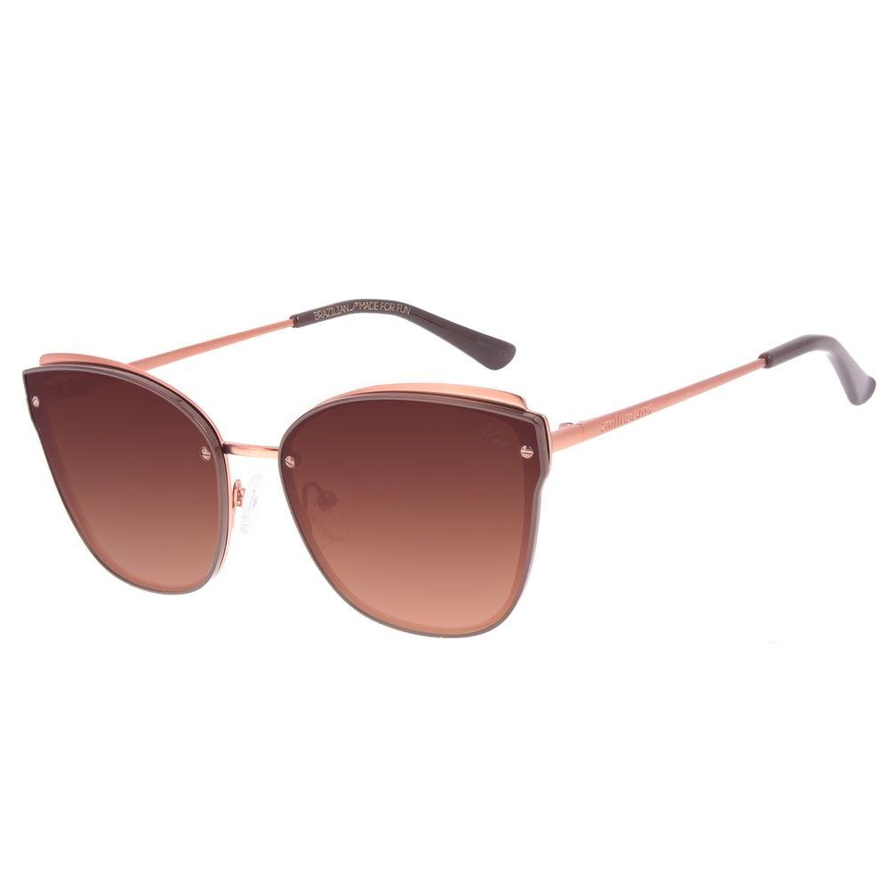 Óculos de Sol Feminino Chilli Beans Casual Cat Marrom OC.MT.2902-5702