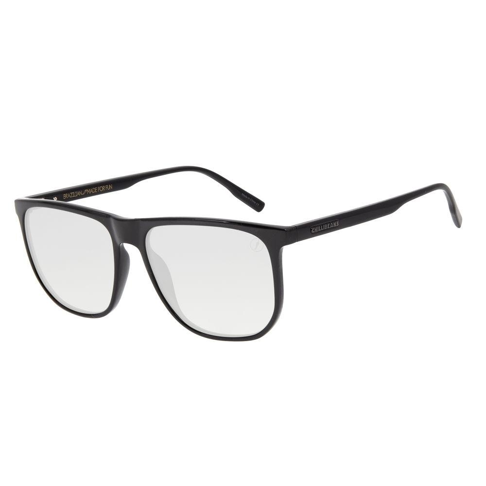 Óculos de Sol Masculino Color Match Quadrado Preto OC.CL.3209-0101