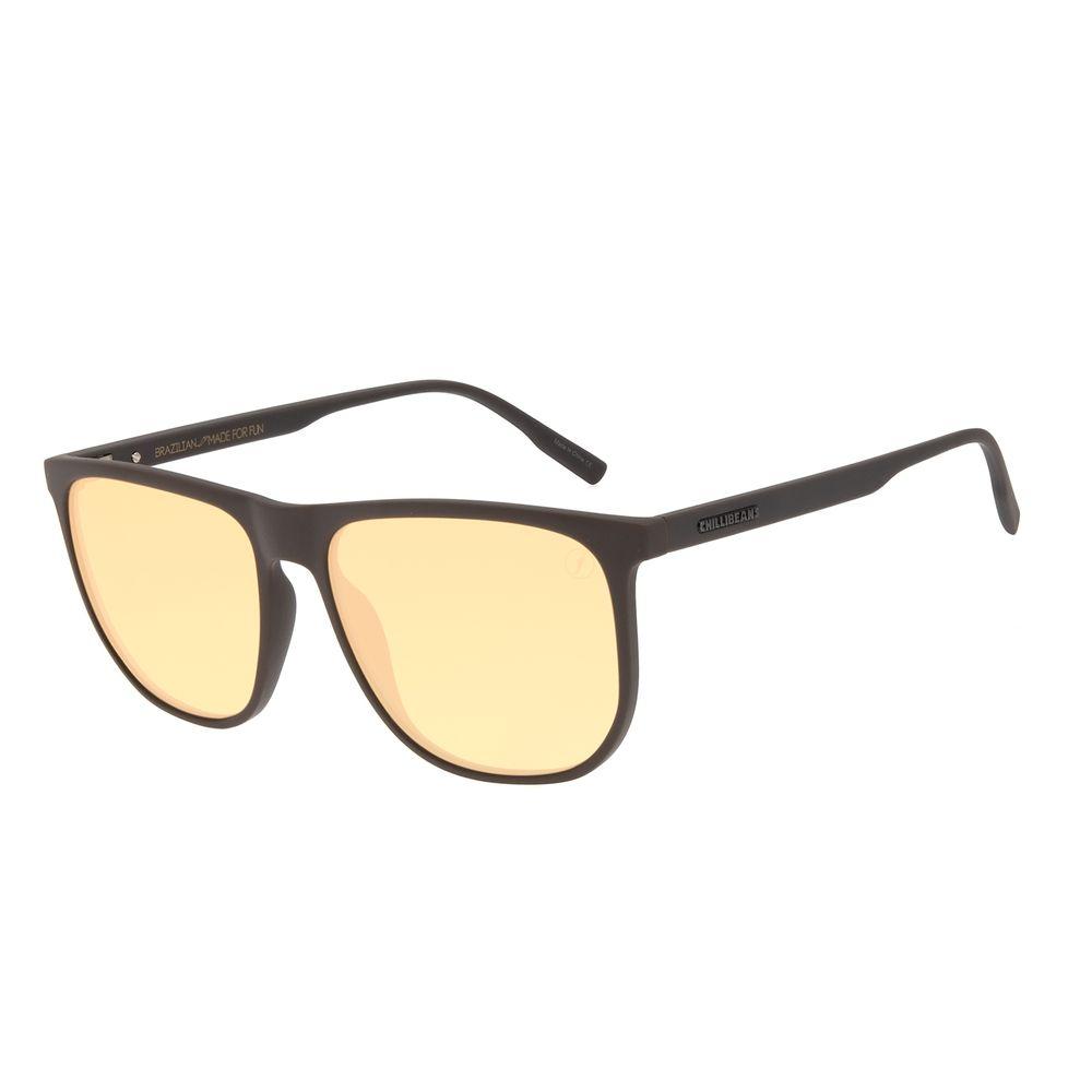 Óculos de Sol Masculino Color Match Quadrado Marrom OC.CL.3209-0202