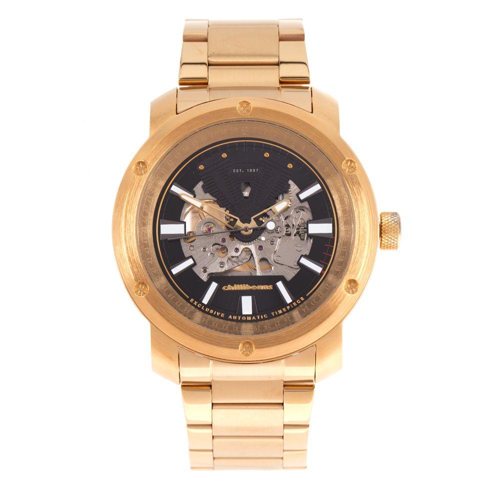 Relógio Automático Masculino Chilli Beans Metal Fashion Dourado RE.MT.1089-4721