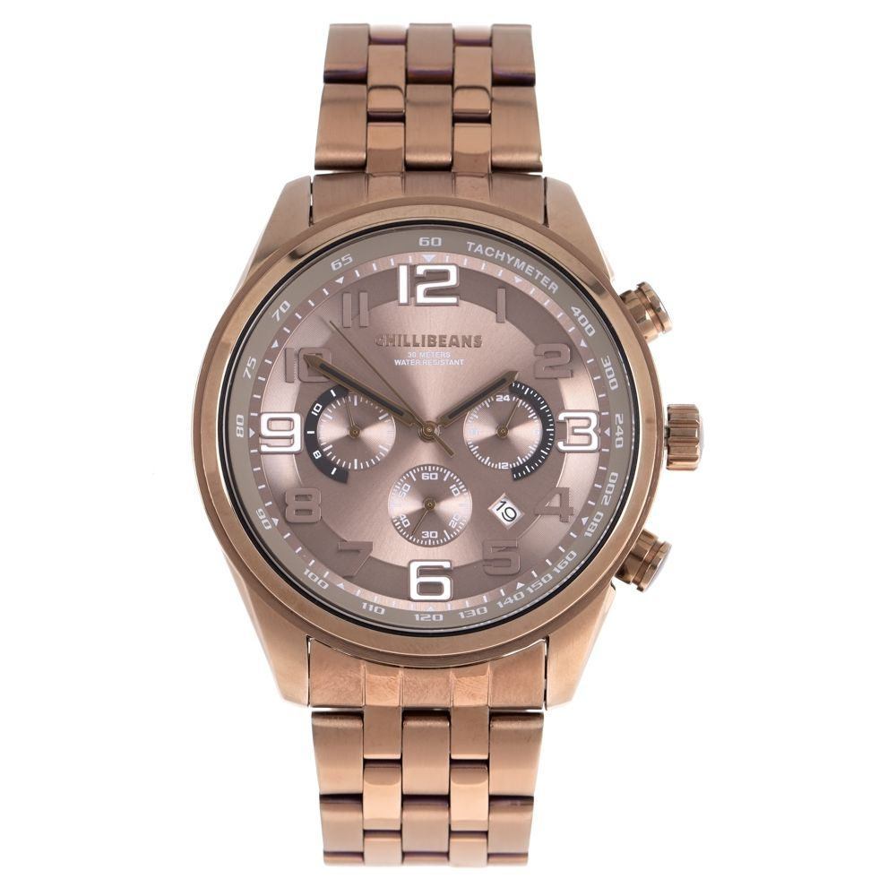 Relógio Analógico Masculino Chilli Beans 30 Meters Water Resistant Bege RE.MT.1138-2323