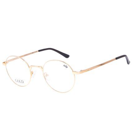Armação Para óculos de Grau Feminino Chilli Beans Banhado a Ouro Dourado LV.MT.0465-2121