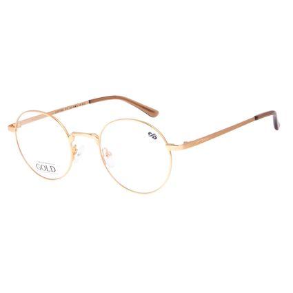 Armação Para óculos de Grau Feminino Chilli Beans Banhado a Ouro Fosco LV.MT.0465-2131