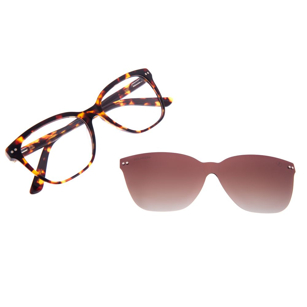 Armação Para Óculos de Grau Feminino Chilli Beans Multi Cat Tartaruga Polarizado LV.MU.0473-5706