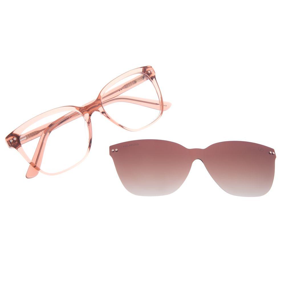 Armação Para Óculos de Grau Feminino Chilli Beans Multi Cat Rosé Polarizado LV.MU.0473-5795